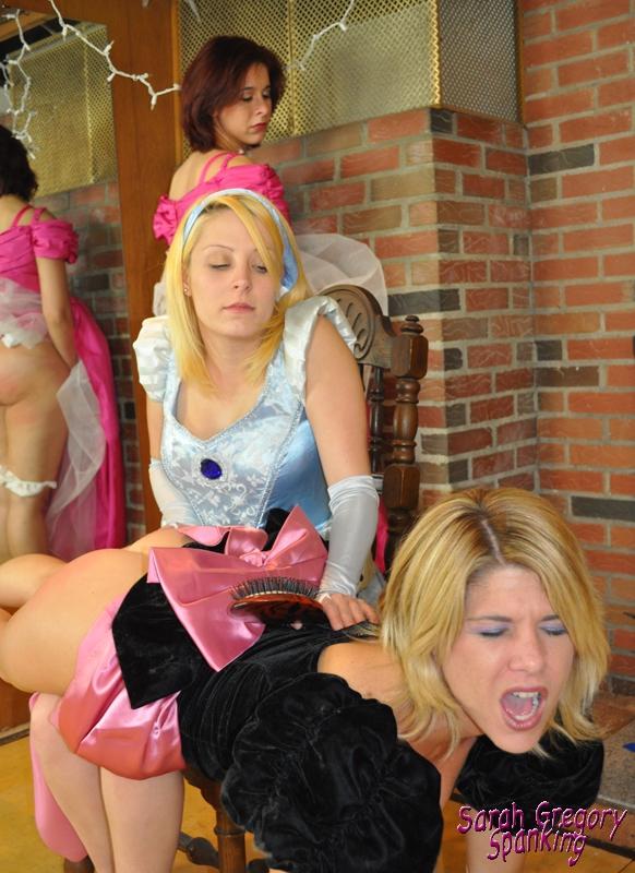 Carissa Montgomery spanking hairbrush