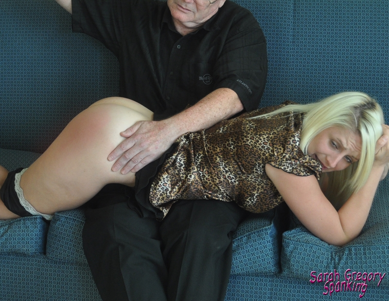 Kat St James bare butt spanking