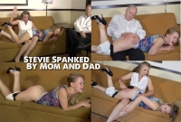 Stevie Spanked By Mom and Dad